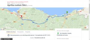 Envío moto País Vasco