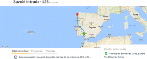 Envío moto Cádiz a Vigo